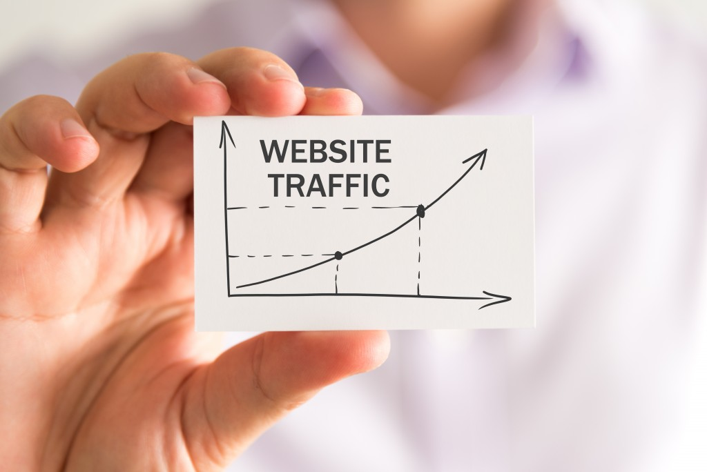 website traffic graph concept