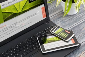 Website being shown in different devices