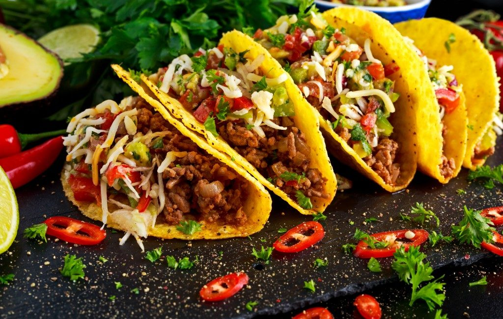 Delicious served tacos