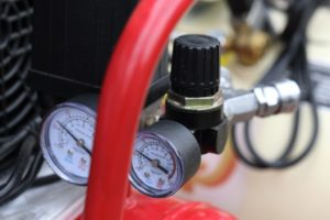 close up shot of a flow meter