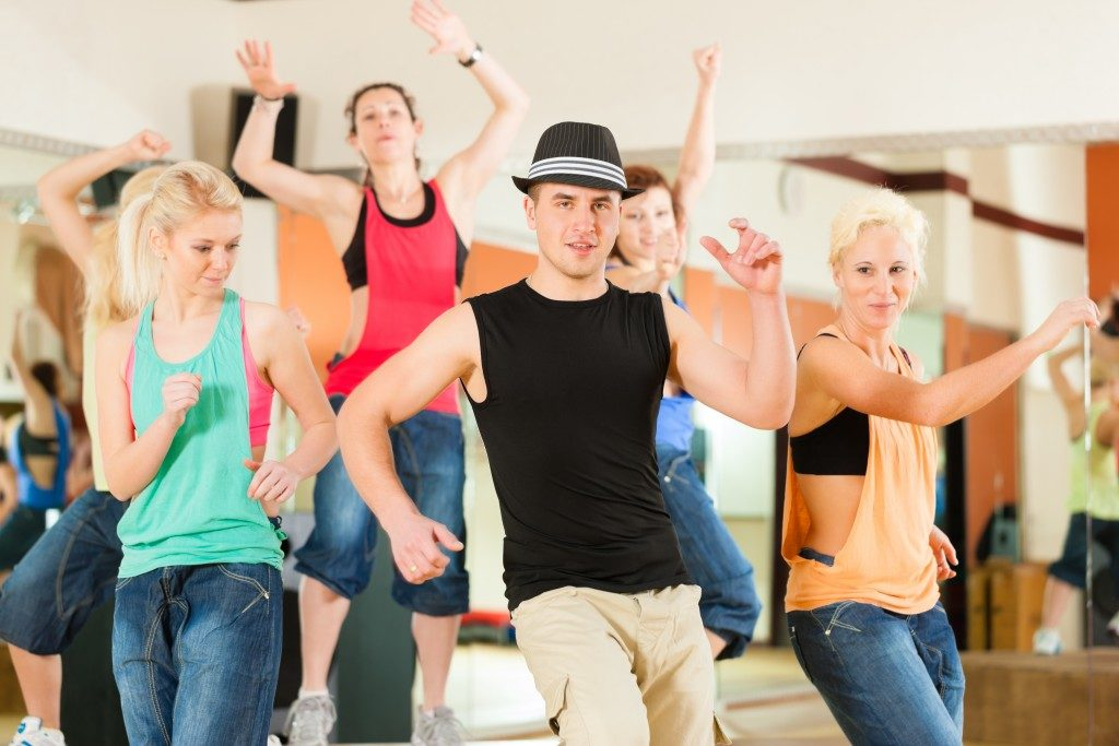 People in a dance studio