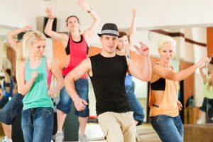 People in a dance studio