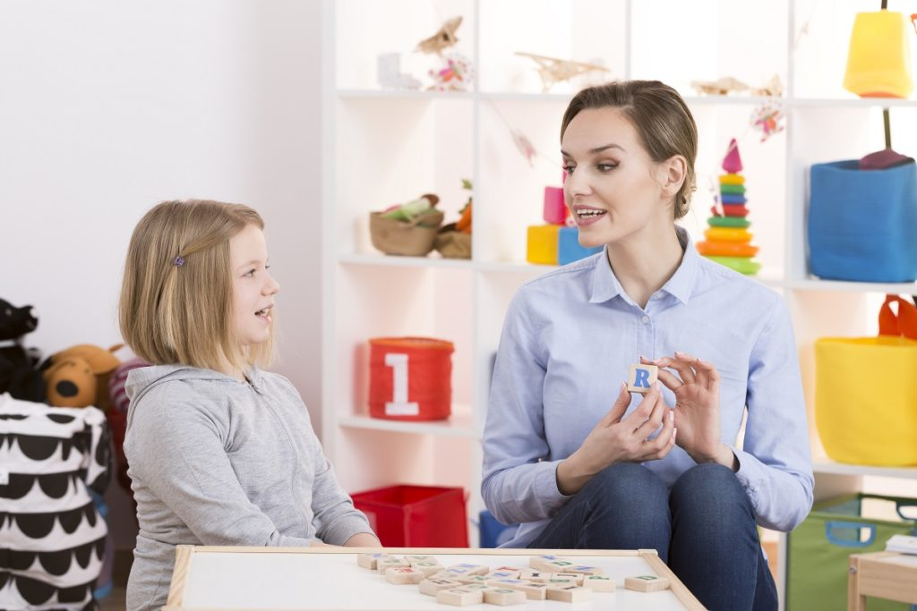 therapist and her patient learning