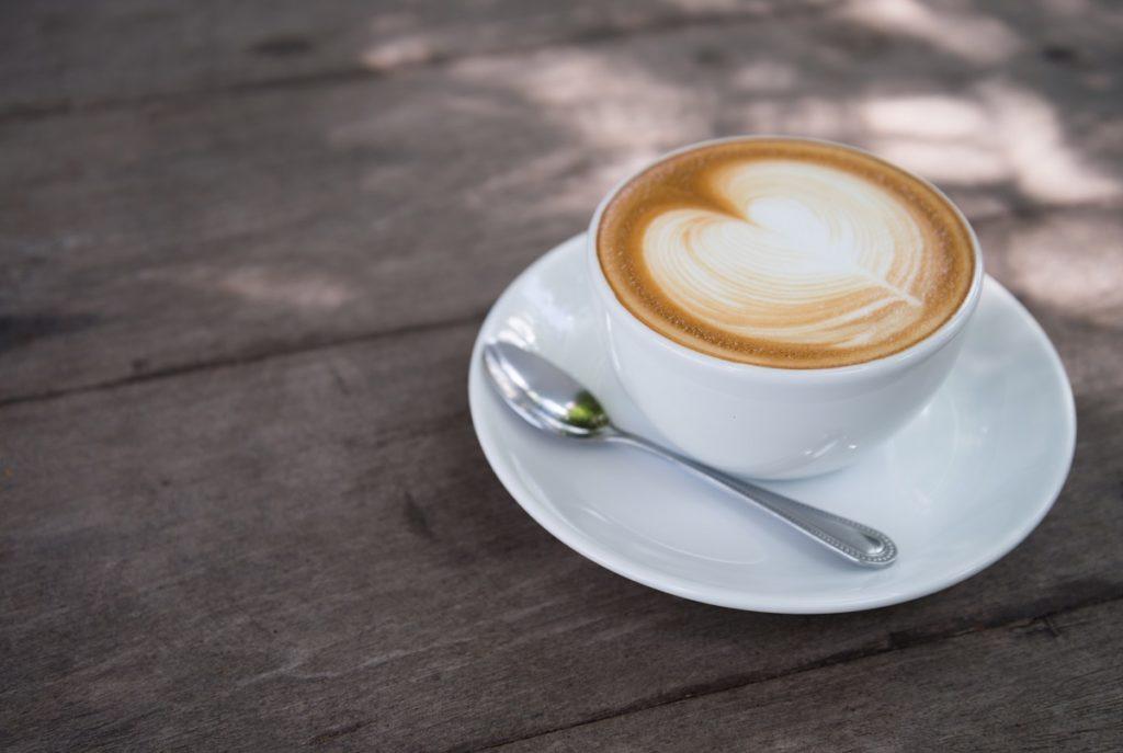 macchiato in a white cup